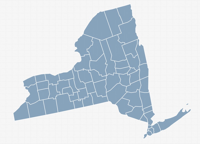 NY County Map