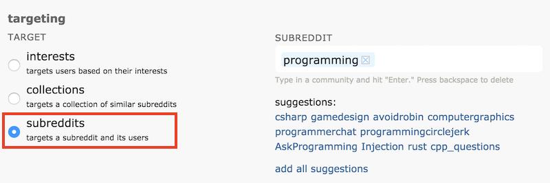 Reddit Targeting Tool