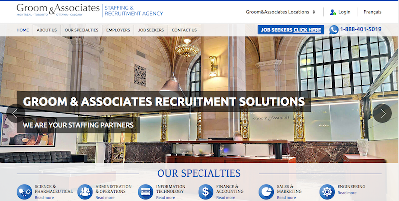 Groom & Associates Screenshot