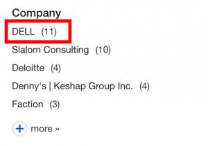 Company Sidebar