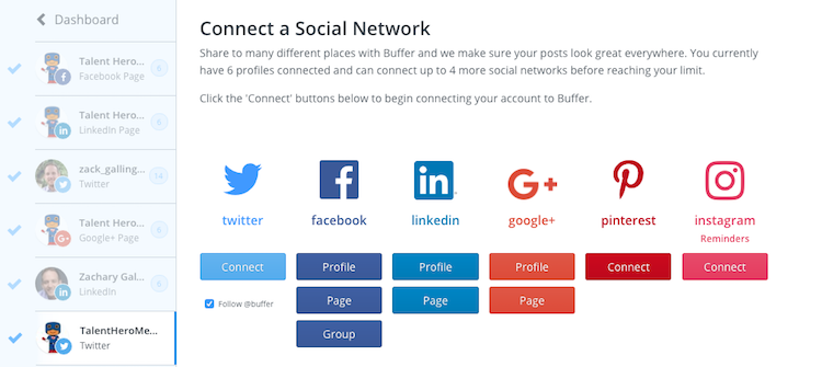 Buffer - Connect Social Networks