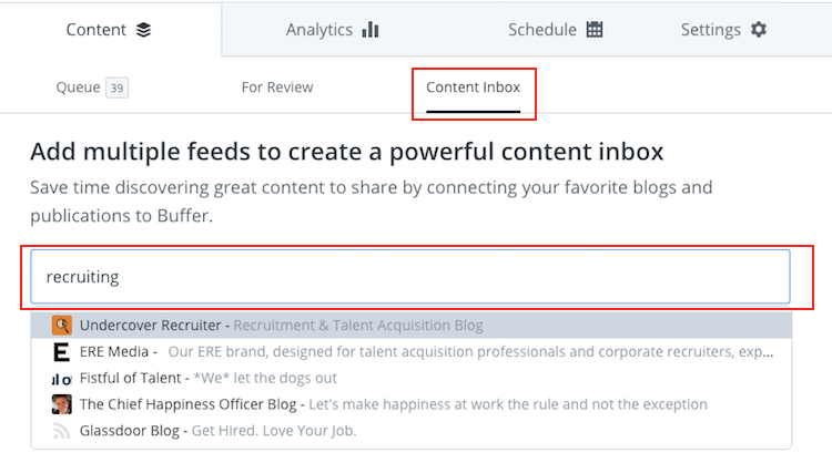 Buffer - Content Curation