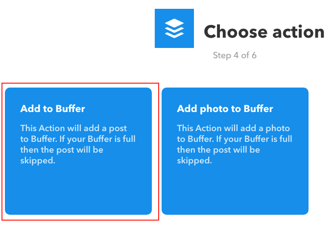 IFTTT - Choose Action