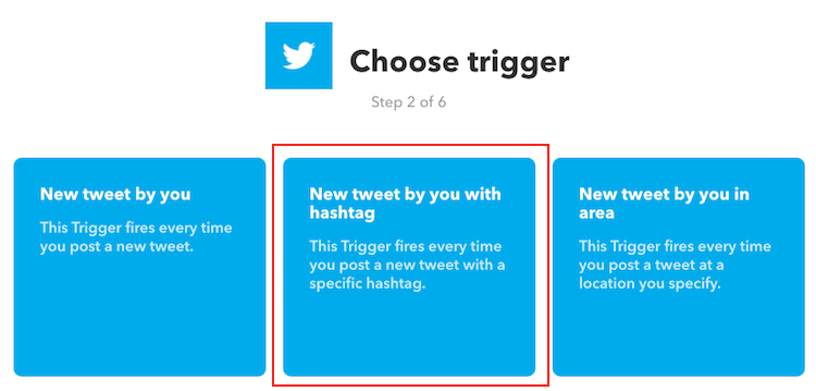 IFTTT - Choose Trigger