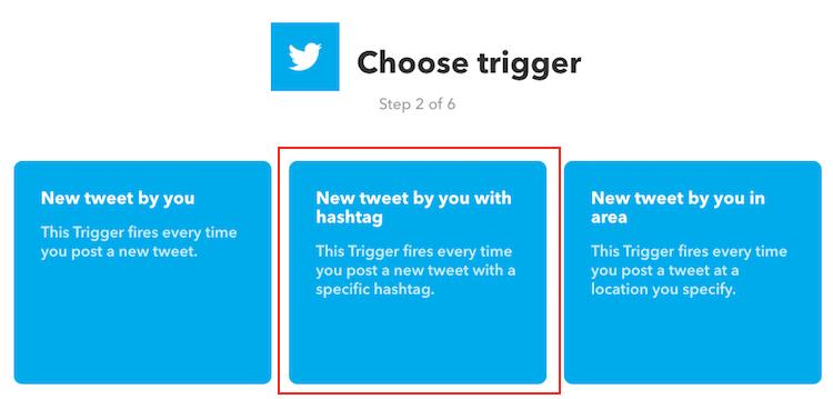 IFTTT - Choose Trigger