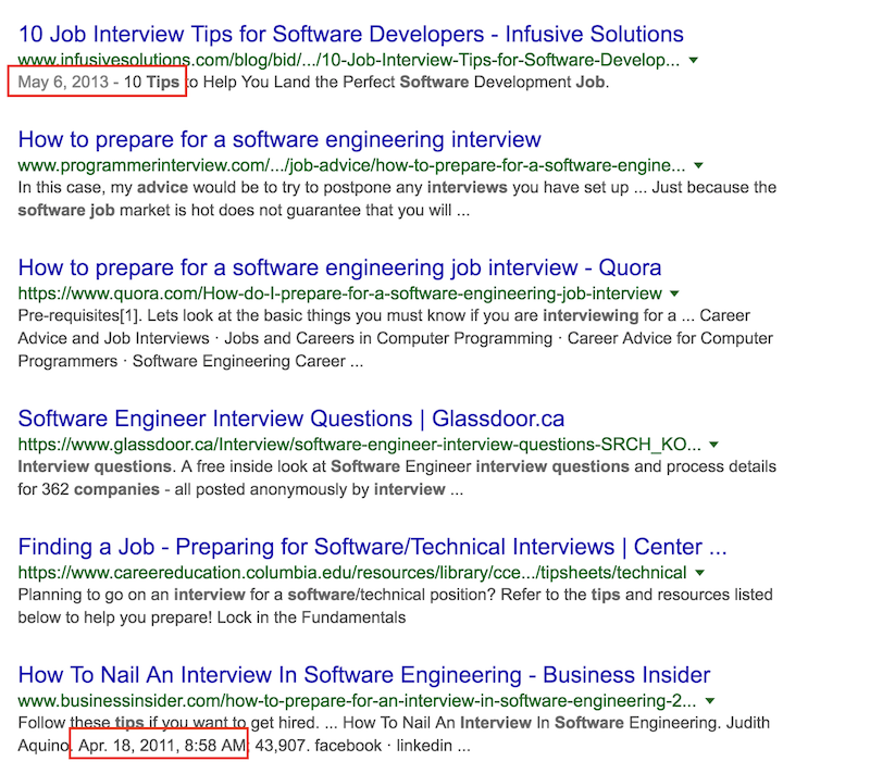 Interviews Tips For Software Jobs Search Results