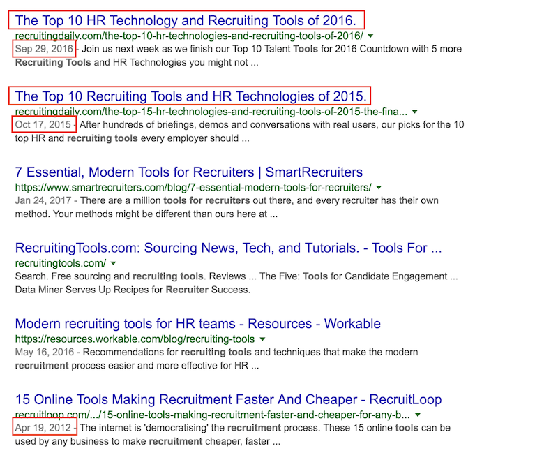 Tools For Recruiters Search Results