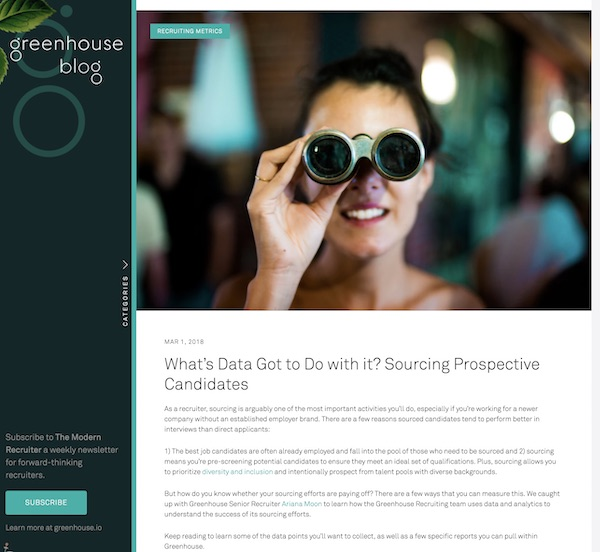 Recruitment Blogs - Greenhouse
