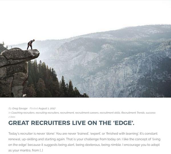 Recruitment Blogs - Greg Savage