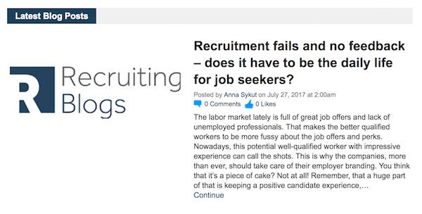 Recruitment Blogs - Recruiting Blogs