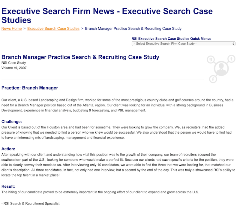 Recruiter Case Studies