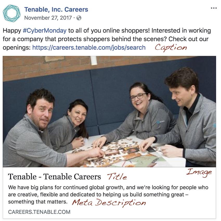 Job posting on Facebook
