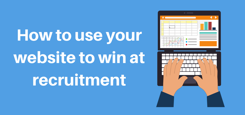 How to win use your website to win at recruitment banner