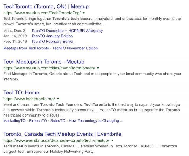 Toronto Tech Meetups