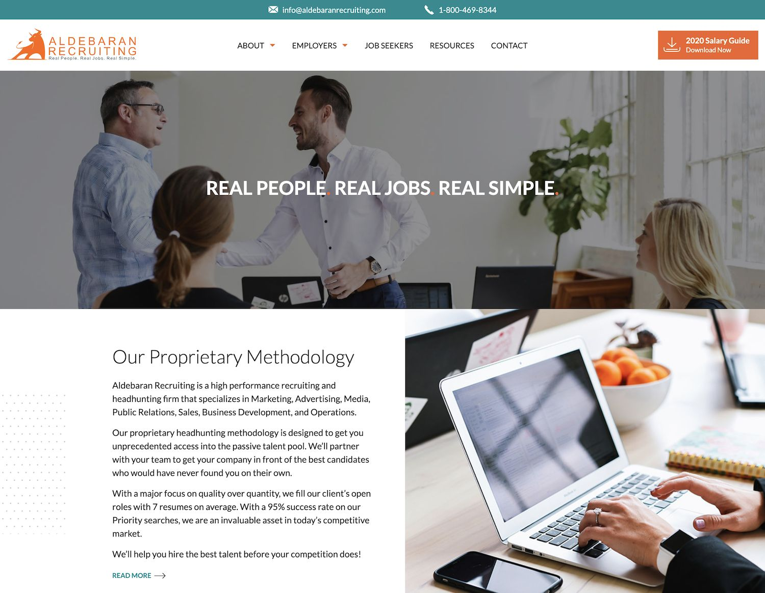 01 example of high quality recruiter web design